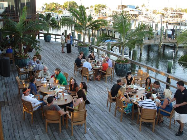MustDo.com | Doc Ford's Rum Bar & Grille Ft. Myers Beach waterfront patio.