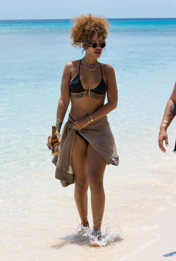 August 9: Rihanna at the beach in Barbados