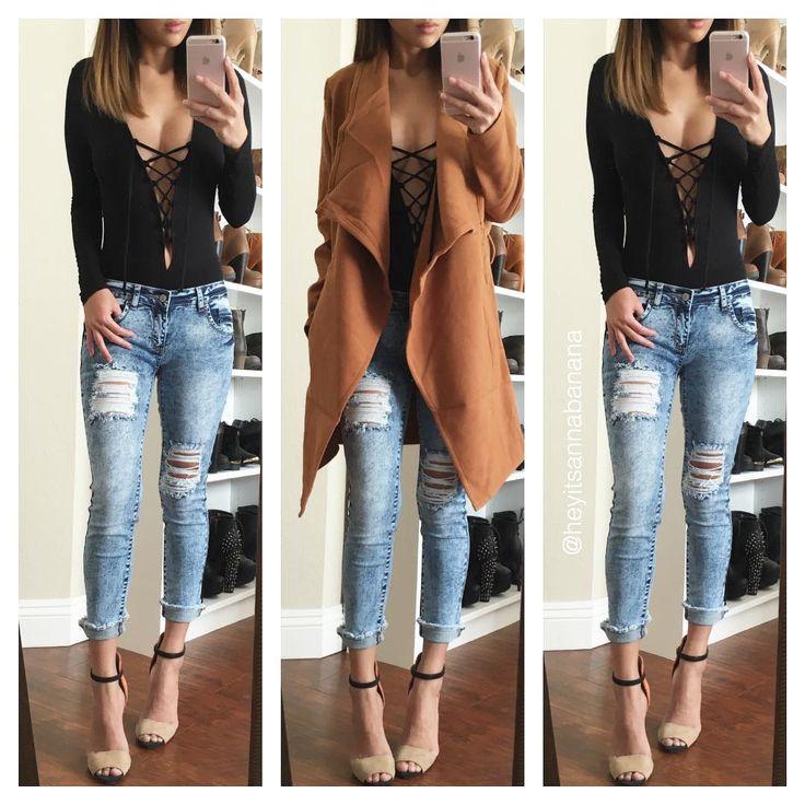 Coat and bodysuit from @fashionnova @fashionnova | www.fashionnova.com ❤️ 15% off code XOANNA #fashionnova