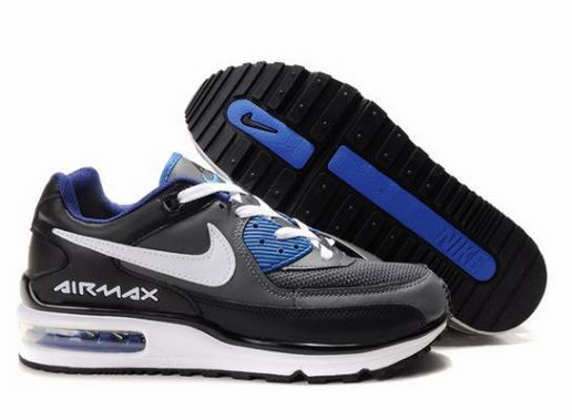 best sneakers a3a6f 16f71 ... Nike Air Max LTD 2 Mens Black White Blue ...