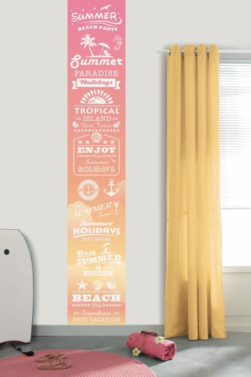 Fresh pink and yellow add to the summery feel of the text on this wallpaper mural. From the Trendy Panels collection, Summer TDP64604923. This is a Guthrie Bowron exclusive range in NZ.
