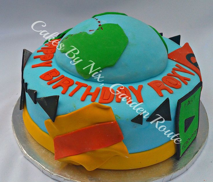 Amazing Race Birthday Cake