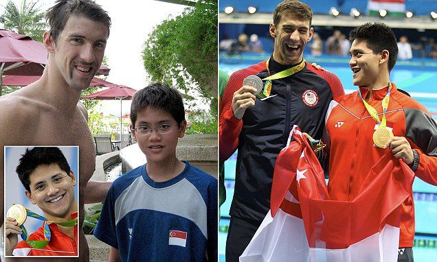 How Singapore's Joseph Schooling beat his idol Michael Phelps #Daily Mail