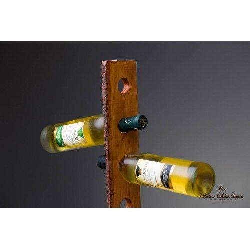 Wine bottle holder from oak