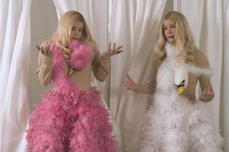 "Marlon Wayans and Shawn Wayans dress up as white girls in ""White Chicks."""