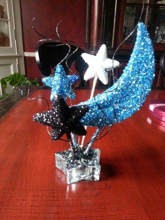 Moon and stars table centerpiece dancing in the