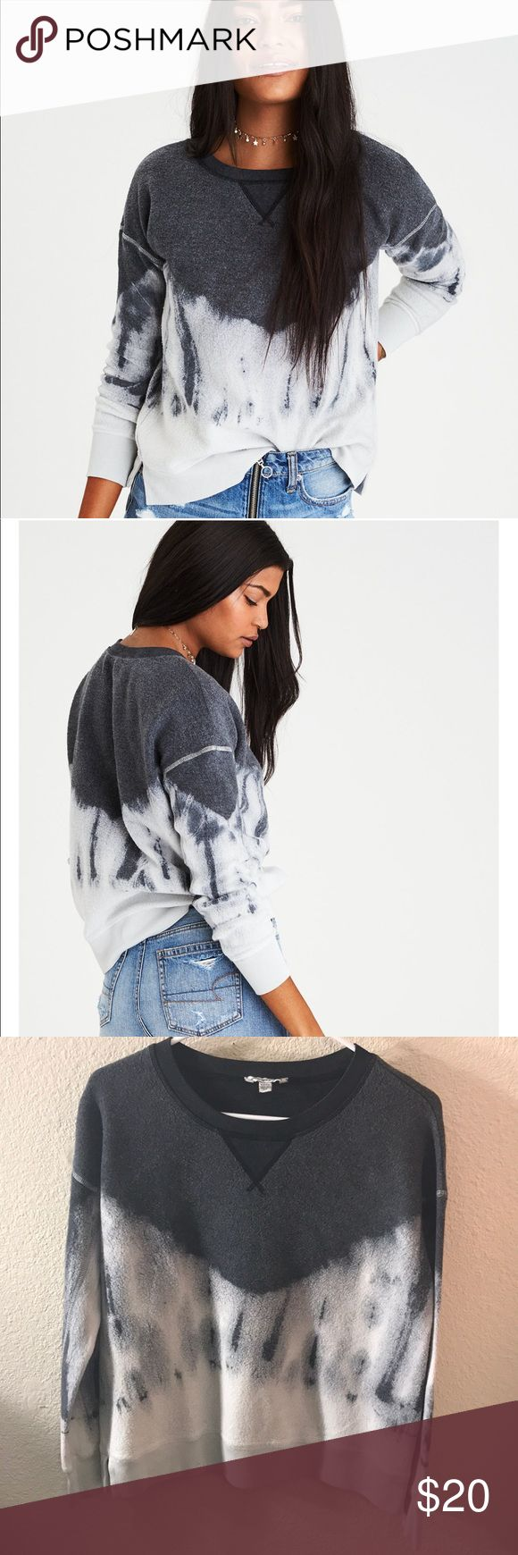 COZY INSIDE & OUT TIE-DYE SWEATSHIRT Very cute and has never been worn American Eagle Outfitters Tops Sweatshirts & Hoodies