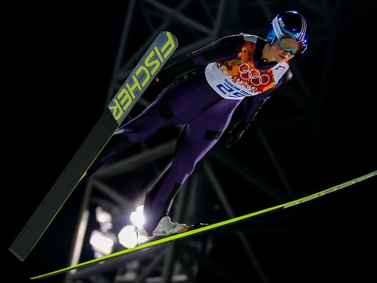 Germany's Carina Vogt Wins Gold & Wins Debut Women's Olympic Ski Jumping! Vogt made history winning the first ever Women's Olympic Ski Jumping event in #Sochi2014.  Daniela Iraschko-Stolz of Austria claimed Silver & France's Coline Mattel won Silver. 2/12/14 #LadyGOLD