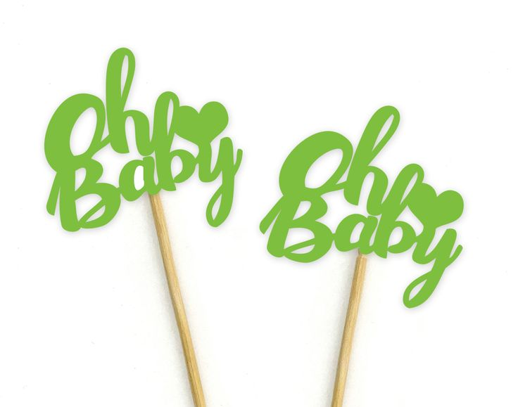 Buy Darling Souvenir Baby Shower Oh Baby Dessert Decoration Cupcake Toppers-Orange   DSCCT-11Ifor R172.00