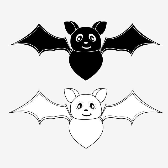 Bat Bat Halloween Coloriage Coloring Bat Clipart Bar Halloween Celebration Halloween Invitation Octobre Bat Vector Clip Art Black And White Cartoon Bat Vector