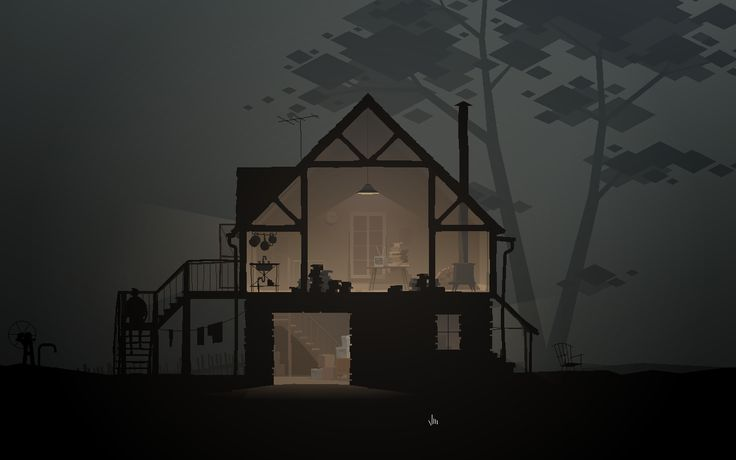 Kentucky Route Zero... lots of atmosphere (fog), slow camera zoom (in/out), parallax, and an interesting mix of soft grit with low-poly objects (eg, look at the trees)