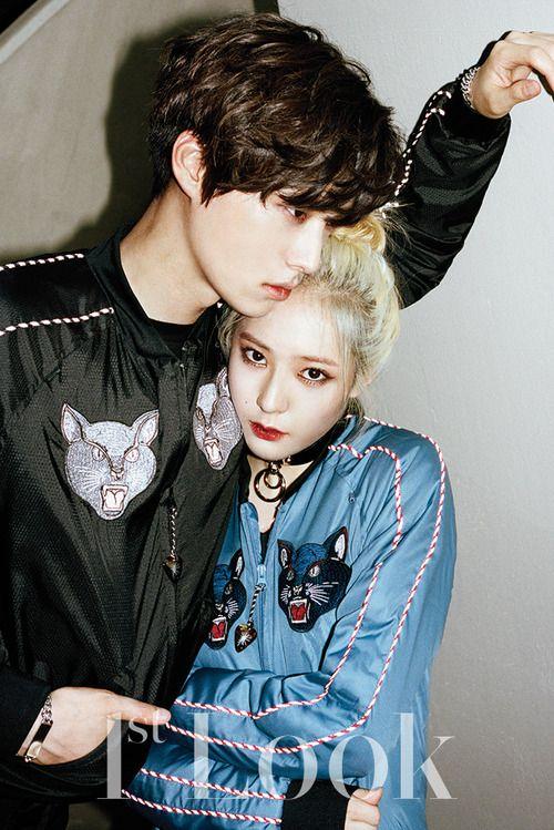 Ahn Jae Hyun and f(x) Krystal - 1st Look Magazine Vol.75 140905