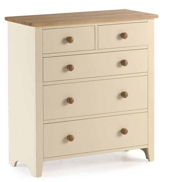 Beautiful Camden Painted Pine U0026 Ash 2 Over 3 Chest Of Drawers A Chunky Painted Pine  And Ash Chest With An Ivory Knock Resistant Paint And Lightly Lacquered Ash  Tops ... Design Ideas