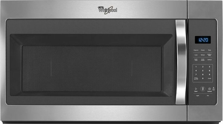 Whirlpool - 1.7 Cu. Ft. Over-the-Range Microwave - Stainless Steel (Silver)