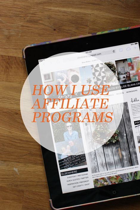 Affiliate marketing can be a great source of income, especially for bloggers who share a lot of products (e.g. craft supplies, clothes, books, etc.). @elise blaha cripe shares how she uses affiliate programs on her blog.