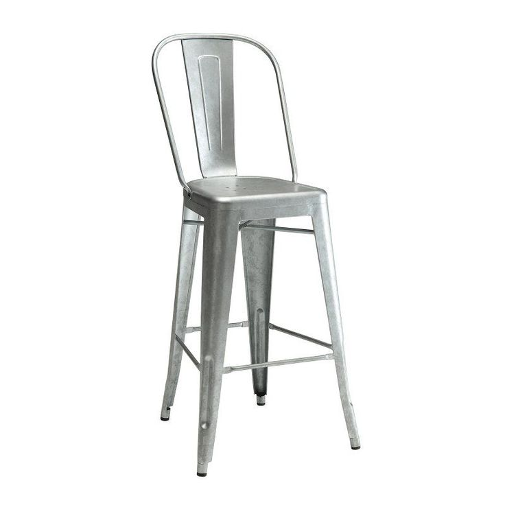 Coaster Furniture 47 in. Armless Bar Stool - Set of 2 Gun Metal - COA3114-6