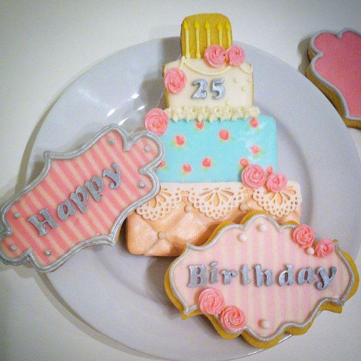 Birthday cookie set