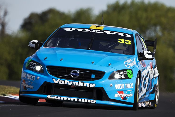 Scott McLaughlin puting the Volvo V8 through it's paces at Bathurst.