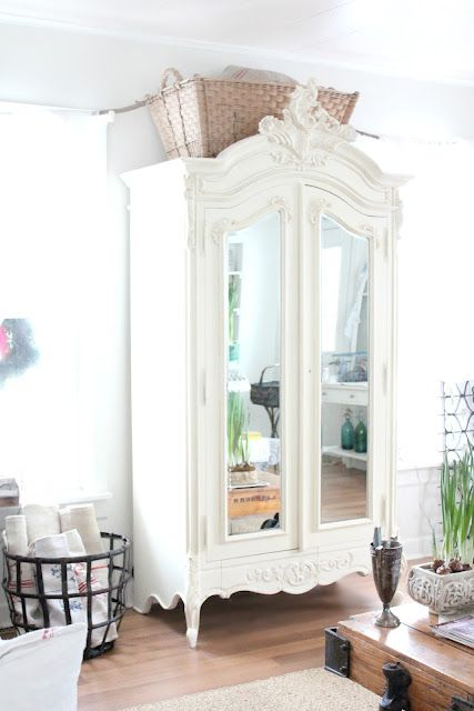 I need to refinish a French mirrored armoire stat! - GORGEOUS!!!