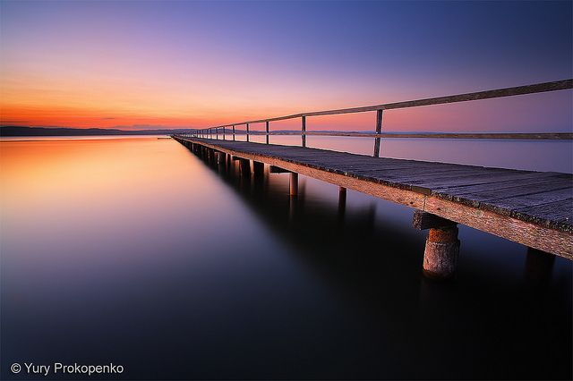 Sunset at Long Jetty, Tuggerah Lake, Central Coast, NSW, Australia