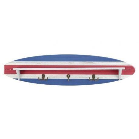 Colgador tabla de surf con colores de estilo marinero, precioso