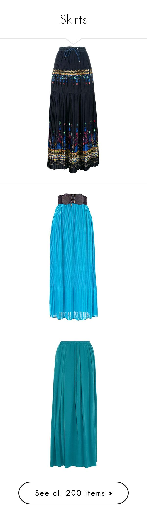 """""""Skirts"""" by tjclay3 ❤ liked on Polyvore featuring skirts, blue, side slit maxi skirt, blue maxi skirt, lace skirt, tribal maxi skirt, tribal print maxi skirt, bottoms, turquoise and long pleated chiffon skirt"""