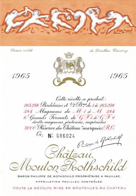 Etiquette Mouton Rothschild 1965  Dorothéa TANNING