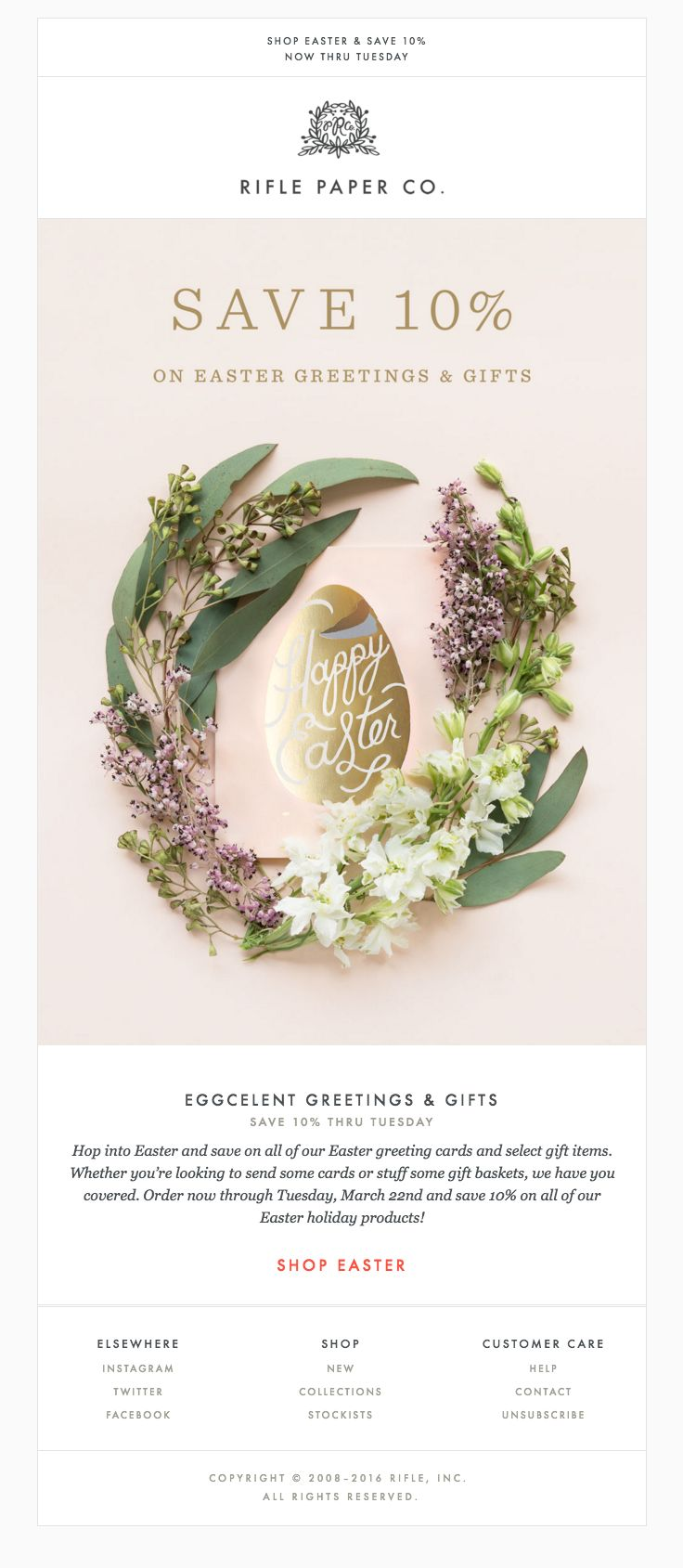 25 best easter newsletters images on pinterest email newsletter rifle paper co sent this email with the subject line eggcelent greetings gifts for negle Choice Image