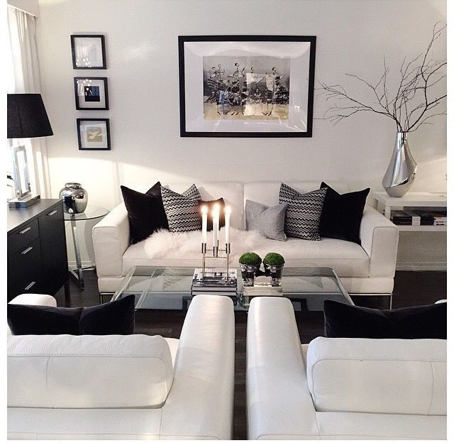 A Very Clean Living Room And Convince To Stay. Black And White Living Room  IdeasBlack ...