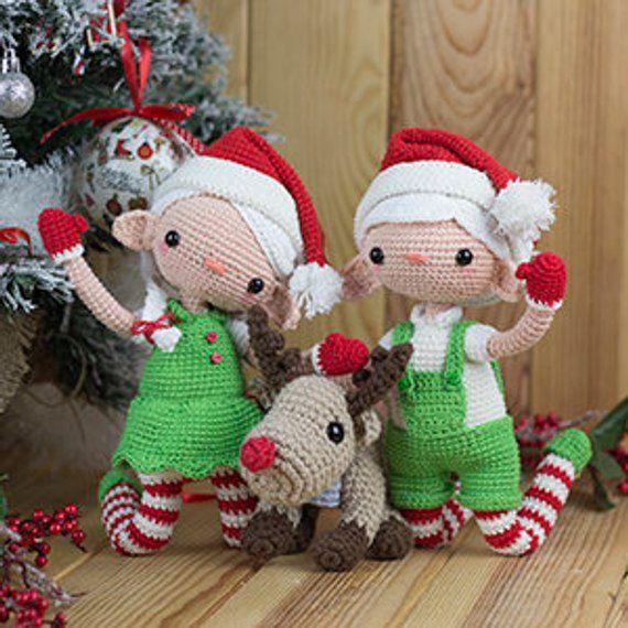 Peter el elfo de Navidad patron duende amigurumi decoración ... | 570x570