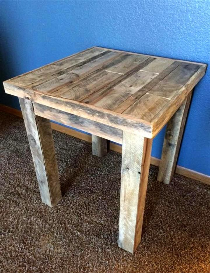 Vintage Inspired Pallet Coffee Table 30 Easy Pallet
