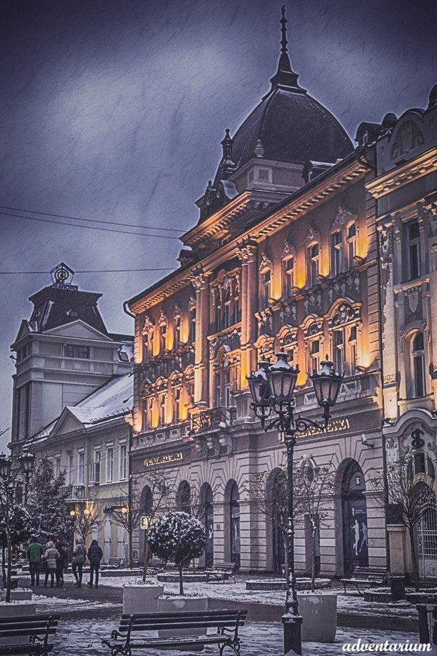 Novi Sad, Serbia — by Irina Gureeva. #architecture Winter Novi Sad, Old Center