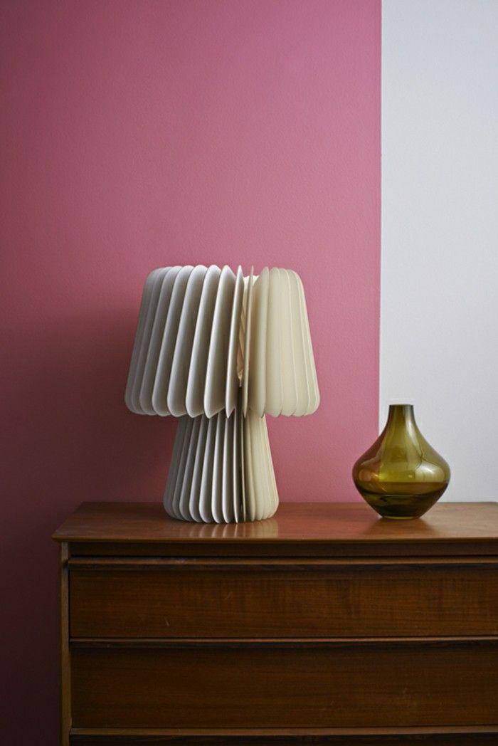 Designer light grey white pink wall vase