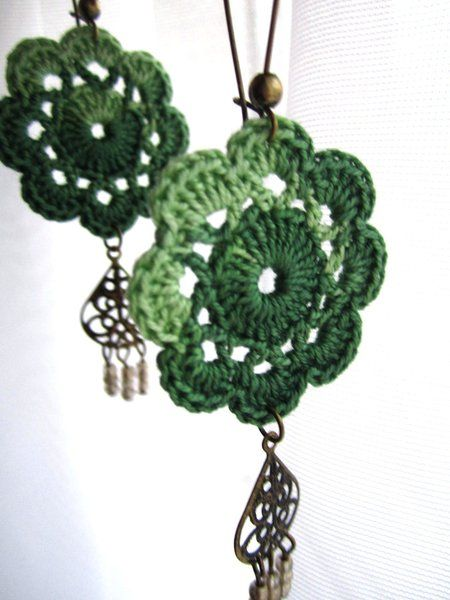 Bohemian crochet flower earrings