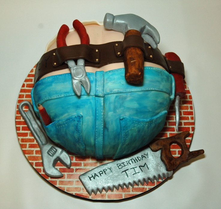 handyman cakes | Construction Worker Cake