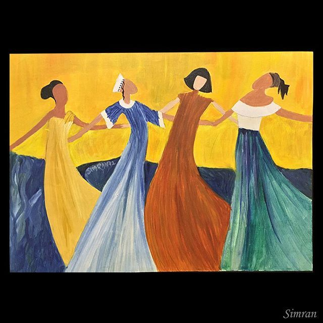 """""""Be color blind, unite"""" #unity #acylic 2012 painting"""