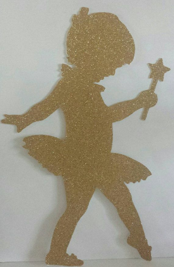 Extra Large 13 tall Glitter Ballerina Cut by KhloesKustomKreation