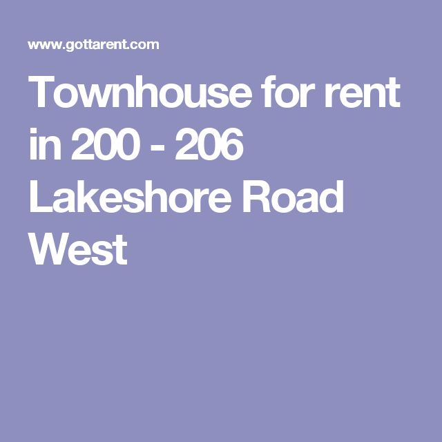 Townhouse for rent in 200 - 206 Lakeshore Road West