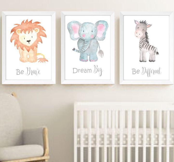 Safari Jungle Animals Nursery Prints