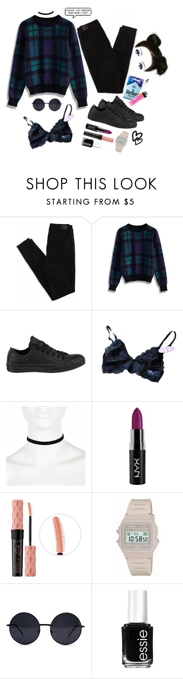 """Sweater Weather"" by grunge4lyfe ❤ liked on Polyvore featuring American Eagle Outfitters, Chicwish, Converse, River Island, Benefit, Retrò, Forum, Essie, StreetStyle and grunge"