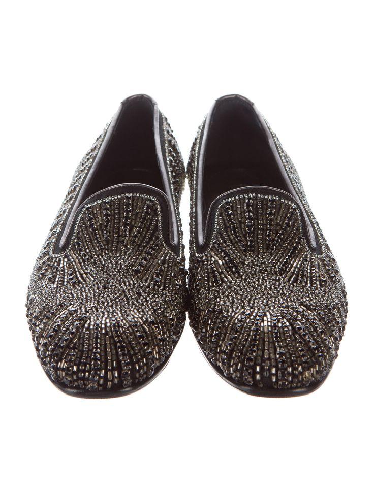 Donald J Pliner Embellished Round-Toe Loafers - Shoes - WDJ20118 | The RealReal