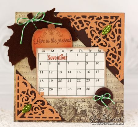November calendar with Amazing Paper Grace November 2012 Club Kit.