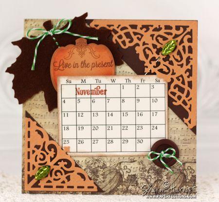 November calendar with Amazing Paper Grace November 2012 Club Kit.