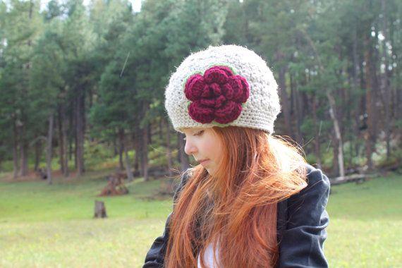 Niñas Crochet el sombrero de niñas invierno sombrero /