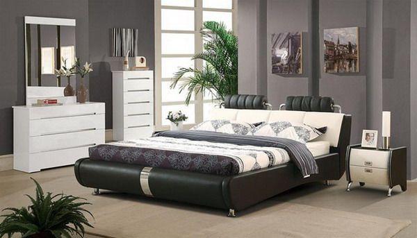 Modern Bedroom Interior Design Ideas With Dark Wooden Platform Bed Furniture - http://www.jmbilliard.com #Bed, #Bedroom, #Dark, #Design, #Furniture, #Ideas, #Interior, #Mode