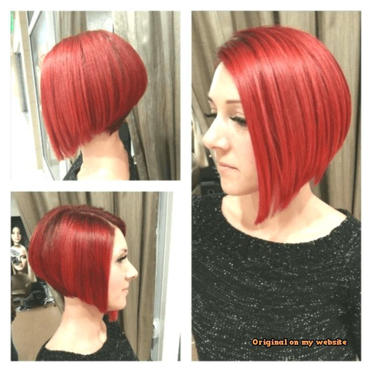 VISIT FOR MORE Bob Hairstyles Short 2019-Smooth bob hairstyle red medium-long hair from the left and r #bobhairstyles #womenhairshort The post Bob Frisu …