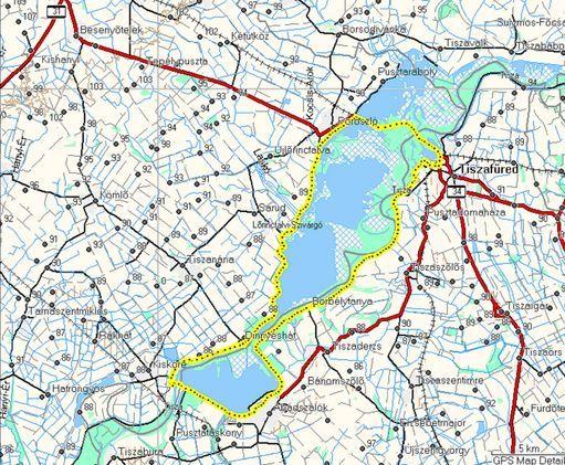Az útvonal geo-kör-Tisza-tó gctiko