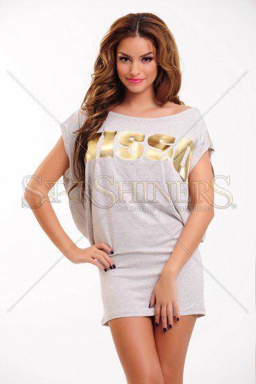 Rochie MissQ Lovely Zipper Grey