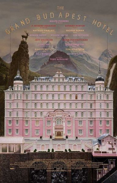 Wes Anderson keeps making amazingly entertaining movies, and The Grand Budapest Hotel is no exception! A great poster for an Oscar-worthy film. Ships fast. 11x1