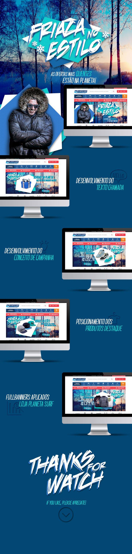 Campanha de inverno desenvolvida para as lojas Planeta Surf, inverno 2015.  Splashbox desenvolvida para a loja virtual do cliente Sul Games.  Direção de Arte: ALEXANDRE R. Agência: TRINTO